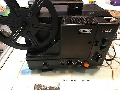 Vintage EUMIG S 905 Motion Picture Film Projector with mic