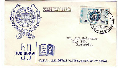 FDC South Africa 1959 50th Anniversary Academy Science and Art