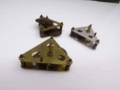 Lot of 3 Vintage Sessions Clock Movement Reduction Gears  for Parts Repair E619c