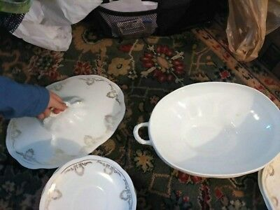 Antique Depression Era Edwin M Knowles Semi Vitreous Porcelain Dinnerware- RARE