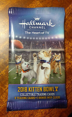 RARE! 2018 Hallmark Channel Kitten Bowl V Trading Cards - Super Bowl LII