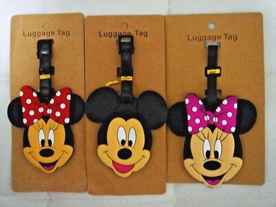 Mickey Minnie Mouse Pokemon Travel Luggage Baggage School Tag Suitcase Bag Label