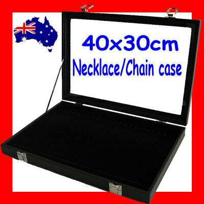 PREMIUM Glass Lid Necklace Chain Display Case | LARGE | 40x30cm | AUSSIE Seller