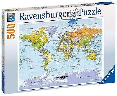 Ravensburger world map 1665 3000 piece puzzle free shipping ravensburger political world map jigsaw puzzle 500 piece shipping included gumiabroncs Gallery