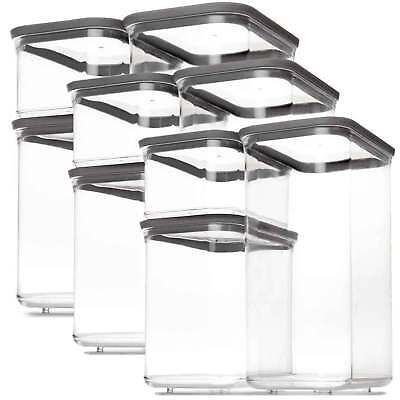 12 Piece Pantry Storage Set Food Containers Bin Canister Kitchen Organizer Jars