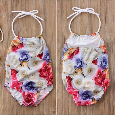 Floral Kids Baby Girls Bikini Tankini Beach Suit Swimsuit Swimwear Bathing Suits