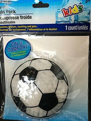 "Assured Reusable KIDS Cold Pack Compress ""Soccer Ball"" new in package"