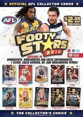 2018 Select Footy Stars CHECK LISTS