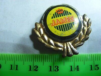 JAMES  motorcycle very old lapel,hat pin badge.(B).