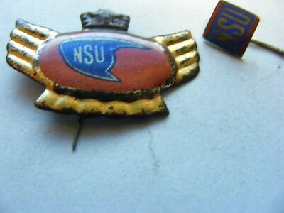 Lot of 2 NSU  Motorcycle very old pin badges,1950s/.60s.