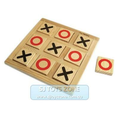 Fun Factory Noughts and Crosses Wooden Educational Toy for Kids with X and O