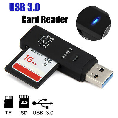 Multi Card Reader All in one USB 3.0 Micro SD/SDXC TF Card Reader High Speed