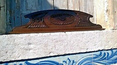 Antique Hand Carved Wood Pediment