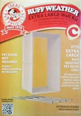 XL NEW Ideal Products Ruff Weather Pet Door Wall Installation Kit RWXLWK Dog Cat