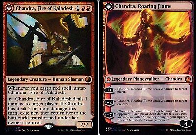 Chandra, Fire of Kaladesh // Chandra, Roaring Flame FOIL | NM | FtV: Transform