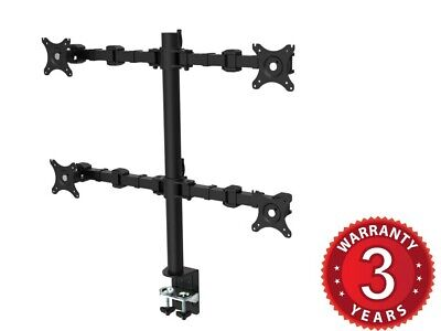 """Rapidline Revolve Quad Monitor Arm  Suits 17""""-30"""" Monitors Rated Weight 10kg"""