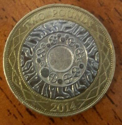 2014 £2 Technology Two Pound Coin Standing On The Shoulders Of Giants