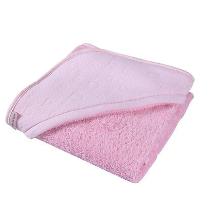 New Clair De Lune Pink Super Soft Hooded Towel Cotton Candy Ideal Baby Gift