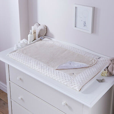 New Clair De Lune Dimple Cream Padded Baby Changing Mat With Cover