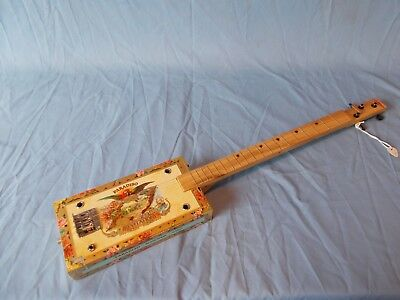 """cigarbox guitar 19 frets """"Paradiso"""" electro-acoustic"""