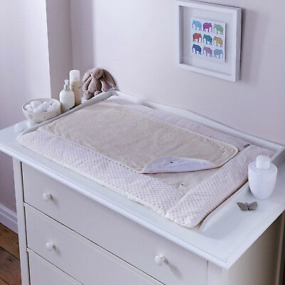 New Clair De Lune Honeycomb Cream Padded Baby Changing Mat With Cover