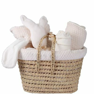 New Clair De Lune Cream Honeycomb Polly Nursery Gift Basket With Accessories