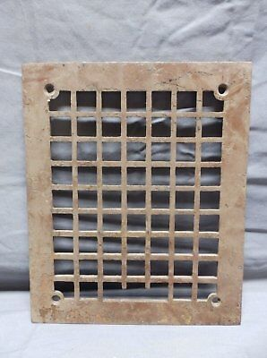 Antique Cast Iron Floor Vent Heat Grate Grill 12x10 Arts Crafts Vtg Old 348-18P