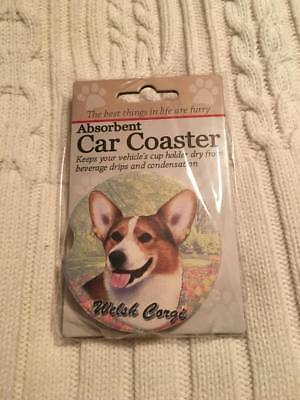 Pembroke Welsh Corgi, tri color absorbent car coaster NWT
