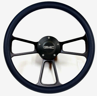 1974-1994  GMC C-Series Pick-Up Truck - Black Billet Steering Wheel - Full Kit