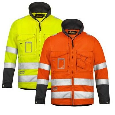 Snickers Hi Vis Work Jacket. Hardwearing Cotton / Polyester. Class 3 - 1633