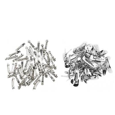 100pc Metal Blank French Barrette Snap Hair Clips DIY Hair Bow Jewelry Craft