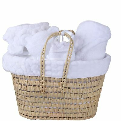 New Clair De Lune White Marshmallow Polly Nursery Gift Basket With Accessories