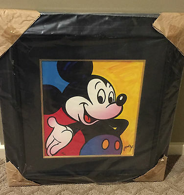 Peter Max Original framed Disney Mickey Mouse hand signed and numbered