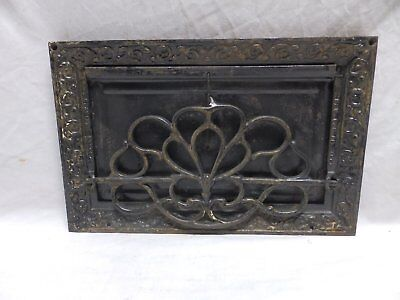 "10"" x 16"" Antique Victorian Style Wall Mount Cast Iron Operable Flap Vtg 354-18P"