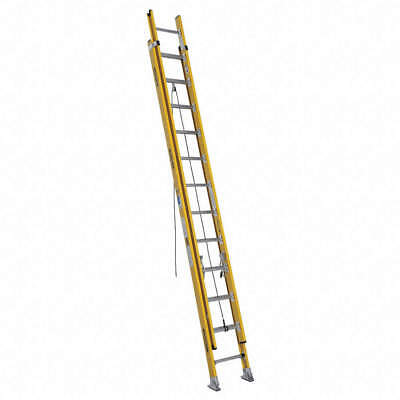 WERNER 24 ft. Fiberglass Extension Ladder, 375 lb. Load Capacity,55.0 lb.41D260