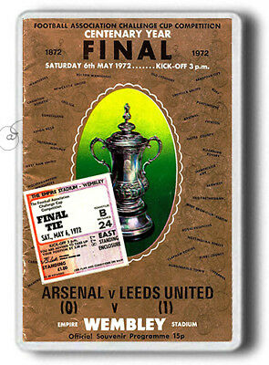 Leeds United , FA Cup Final - 1972. Leeds United programme...Large size Magnet