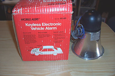 Mobile Alert Keyless Electronic Vehicle Alarm 49-781 Siren Alarm - Radio Shack
