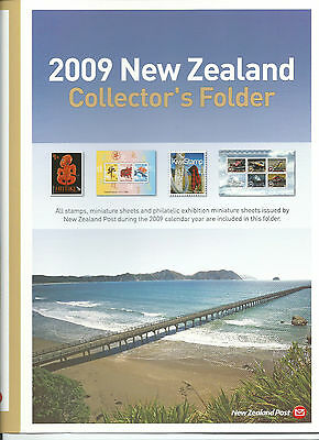 2009 Collectors Folder in Plastic Case all stamps shown complete MNH/MUH as New