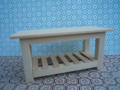 Dolls House Miniature Furniture In 1/12 Scale Medium Handmade Table