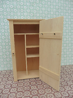 Dolls House Hand Made Miniature Furniture In 1/12 Scale Broom Cupboard