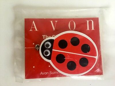 Vintage Avon The Gift Collection Key Chain Summer Fun Ladybug - NOS