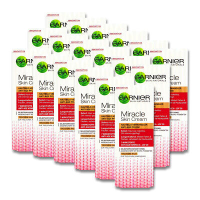 18x50ml Garnier Miracle Skin Cream Anti-Age Gesichtspflege Anti Falten Creme