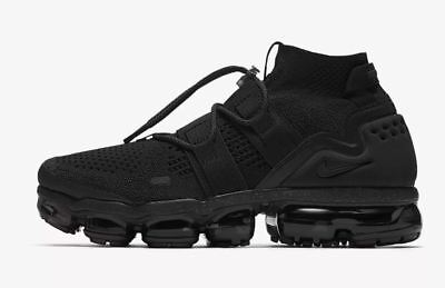 Nike Air Vapormax Utility Flyknit Triple Black Vapor Max Mens Sizes