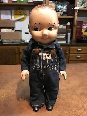 Vintage Buddy Lee Doll in Lee Union Made Overalls