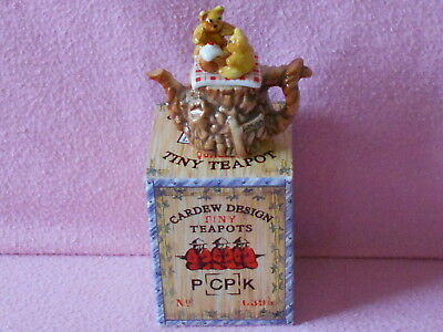 Cardew Tiny Teapot..Teddy Bear's Picnic.. Boxed.. Lovely Condition..