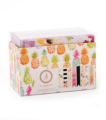 """Sparkle /& Co Wildflower Ms Paperie 4.25/"""" x 5.5/"""" A2 Cards /& Envelopes Set"""