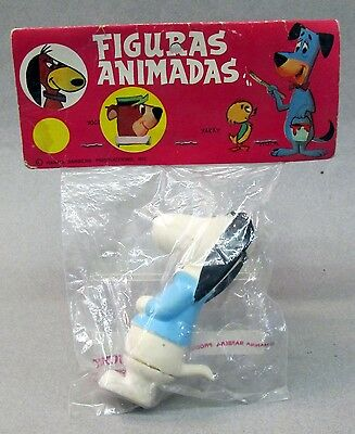 "4.75"" tall AUGIE DOGGIE squeeze toy BLUE SHIRT Bucky Mexico MINT IN PACKAGE 1973"