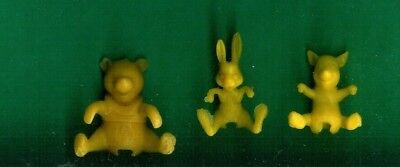 3 Nabisco Cereal Premiums 1965 Winnie The Pooh Breakfast Buddies