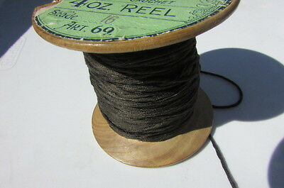 Silk Antique Head & Son Sports Coat 4 oz Reel Color Black Brown England Rare