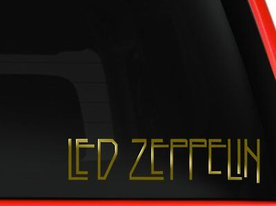 Led Zeppelin Rock Band Car Window Vinyl Decal Sticker (Gold 8 inches)